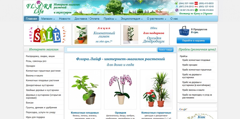 Интернет магазин растений рейтинг